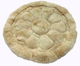 Alpakaandmore, Alpaca Fur Rug Round Different Sizes Flower Design (55.12 Inch... - $242.55