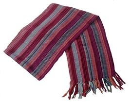 "Alpakaandmore Unisex 100% Alpaca Wool Scarf, Shawl Stripes 63""x 4.72"" (R... - $506,88 MXN"