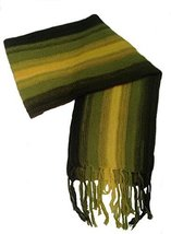 Alpakaandmore Thick Unisex 100% Alpaca Wool Scarf, Shawl Stripes 63x4.72... - $34.65