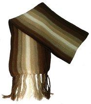 Alpakaandmore Thick Unisex 100% Alpaca Wool Scarf, Shawl Stripes 63x4.72... - ₨2,431.05 INR