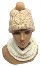 Alpakaandmore, Womens Set of Beanie Hat with Muffler Scarf 100% Baby Alp... - $55.44