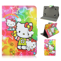 Hello Kitty Cartoon  Leather Case Cover for7