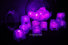 Set of 24 Pink LiteCubes Brand 3 Mode LED Light up Ice Cubes - $49.95