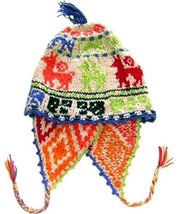 Alpakaandmore Womens Traditional Peruvian Chullo Hat Handmade Alpaca Wool Gre... - $31.68