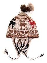 Alpakaandmore, Original Chullo Hat Cusqueno Alpaka Wool Hand-knitted, One Siz... - $37.62