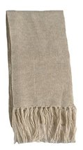 Alpakaandmore Unisex Alpaca Wool Fringed Scarf 63x4.72 (White) [Apparel] - ₨2,166.19 INR