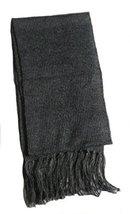 Alpakaandmore Unisex Alpaca Wool Fringed Scarf 63x4.72 (Dark Grey) [Appa... - $623,85 MXN