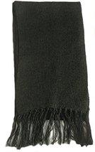 Alpakaandmore Unisex Alpaca Wool Fringed Scarf 63x4.72 (Black) [Apparel] - $31.68