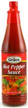 Grace Hot Pepper Sauce. 6 oz. X 3 bottles - $28.00