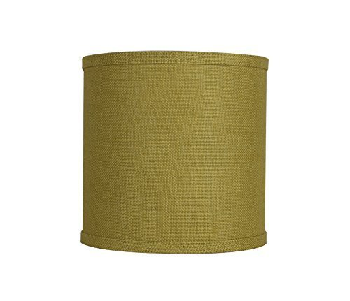 Urbanest Classic Drum Burlap Lampshade, 10-inch by 10-inch by 10-inch, Mustard Y