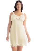 Illusion Women's Nylon Full Slip With Lace Trim Adjustable Straps Plus Size 1112 image 2