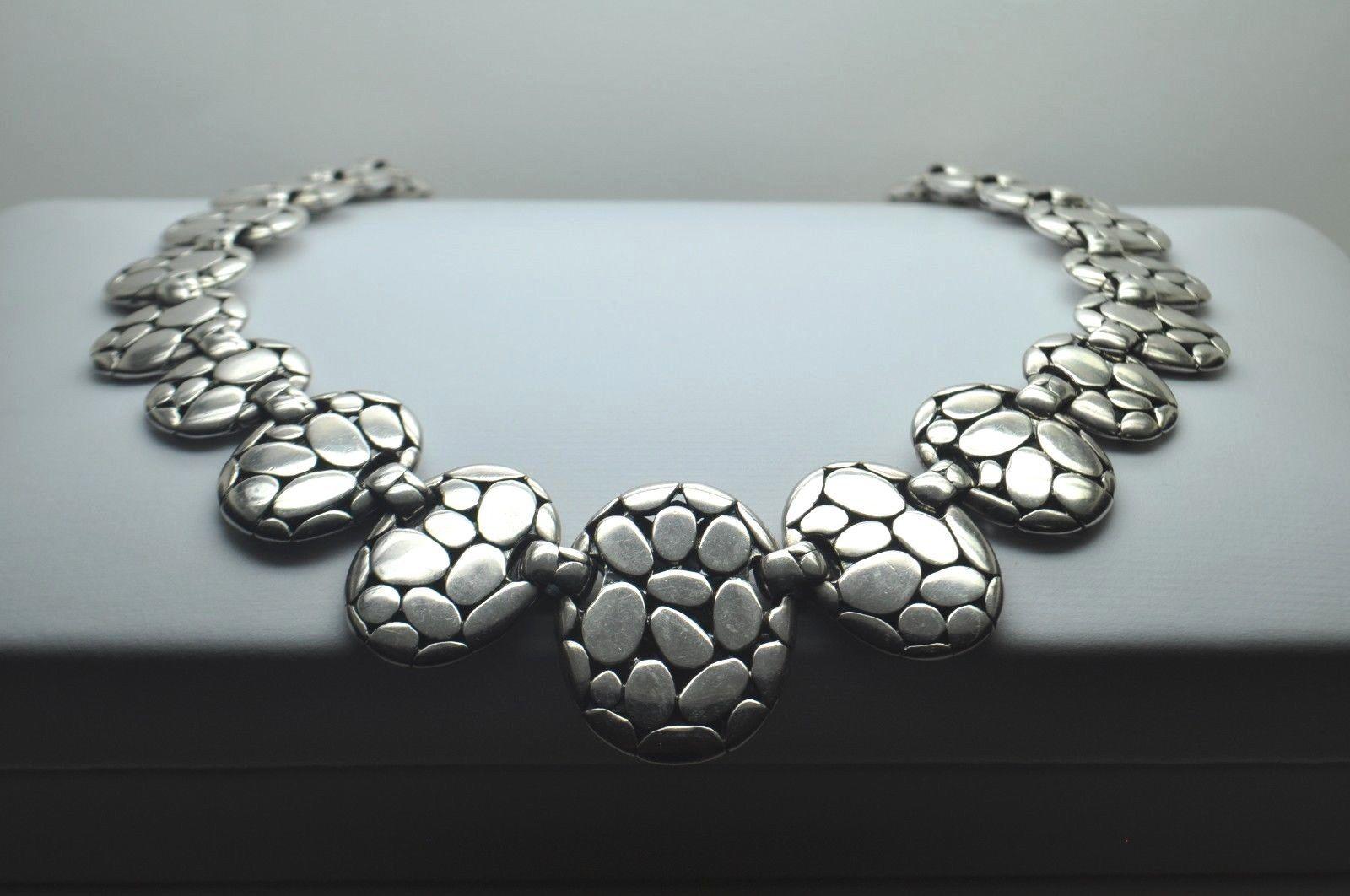 "JOHN HARDY Sterling Silver Kali Pebble Link Necklace (15 1/2"")"