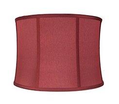 Urbanest Softback Drum Lampshade,Faux Silk, 12-inch, Burgundy, Spider - $38.80