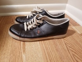 Polo Ralph Lauren Men's Fashion Sneakers Shoes 13D Black Leather upper - $19.80