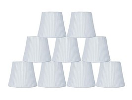 "Urbanest Box Pleated Mini Chandelier Lamp Shade, Off White, 3x5x4.5"", Softback,  image 1"
