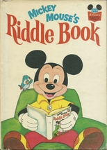 Mickey Mouse's Riddle Book Walt Disney Hardcover 1972 - $9.99