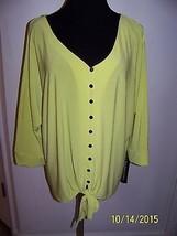 Notations Womens Shirt Color: Gentle Citrus size: 2x - NWT - $37.61