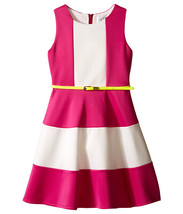 Us Angels - Scuba Tank Dress w/ Color Block & Full Skirt