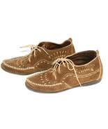 Minnetonka Moccasins Dark Tan Suede Ankle Heigh... - $19.99
