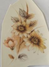 """11 Mixed Flowers Waterslide Ceramic Decals  2.75"""" - Vintage - $5.25"""