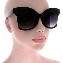 Oversized Xtra Large Cutoff Semi rimless Round Cat Eye Style Women Sungl... - $7.38+