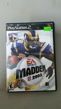 Madden 2003 Playstation 2 PS2 No Manual - $4.46