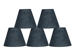 Urbanest Set of 5 3-inch by 6-inch by 5-inch Suede Clip-on Chandelier Sh... - $29.69
