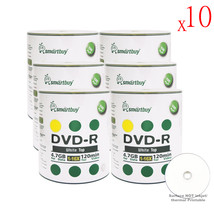 6000 Pack Smartbuy 16X DVD-R 4.7GB 120Min White Top Blank Media Recordable Disc - $885.39
