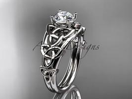 Platinum  celtic trinity knot engagement ring , wedding ring CT765 - $1,495.00