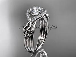 Platinum celtic trinity knot engagement ring ,diamond wedding ring CT785 - $2,050.00