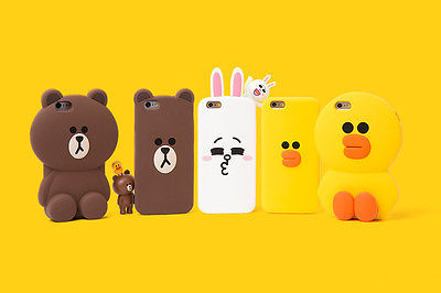 LINE Friends Character Mega SALLY iPhone 6+ / 6S+ Silicone Case Phone Cover Skin