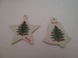 Spode Christmas Tree Star and Bell Ornaments holiday decoration - $14.46