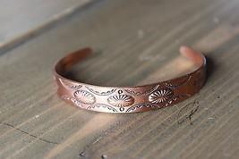 Vintage WM Co Copper Cuff Adjustable 10mm wide - $39.60
