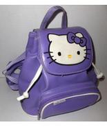 Vintage Sanrio Hello Kitty Purple Backpack Styl... - $24.95