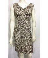 Kenneth Cole NY Petite PXS Brown Floral Sleeveless Dress Knee-Length - $66.64