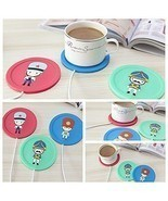 Cute USB Powered Cup Mug Electric Warmer Coffee Tea Drink Heater Pad Bev... - $8.06