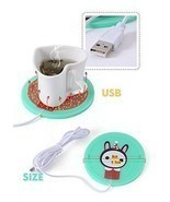 USB Powered Cup Mug Electric Warmer Coffee Tea Drink Heater Pad Beverage - ₨468.15 INR+