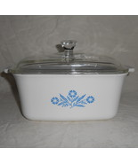 Corning Ware #P-4-B Blue Cornflower 1.5 Quart Casserole Dish and Glass Lid - $27.95