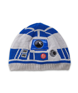Disney Star Wars R2-D2 Knit Beanie Hat Cap for kids LIGHT-UP New Size Me... - $12.86
