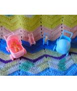 Dollhouse Mini Stroller Baby Doll Toy Buggy + T... - $9.99