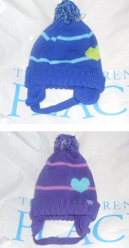 NWT The Childrens Place Girls Rainbow Unicorn Faux Fur Fleece Hat /& Mittens Set
