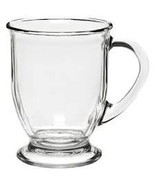 NEW (1) Large Anchor Hocking Large Clear Glass Coffee Mug - $14.99