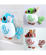 New Lovely Funny Attractive Bird Pattern Tooth Brush Holder 4color Choice - $12.99