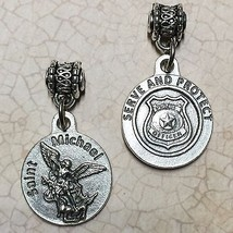 "Saint St Michael the Archangel Medal Pendant Police Badge Serve and Protect 3/4"" - $6.99"