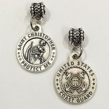 Saint Christopher Medal Pendant Charm Protect US Coast Guard Protection 3/4 Inch - $6.99