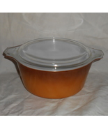 PYREX #474-B Butterscotch 1.5 Quart Old Orchard... - $24.95