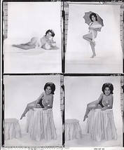 VINTAGE RISQUE TOPLESS MODEL W/ UMBRELLA CHEESE... - $214.49