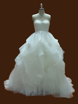 Rosyfancy Lace Bodice Empire Waist Pickup Skirt Wedding Bridal Ball Gown - $315.00