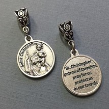 Saint St Christopher Travelers Travel Protection Medal Charm Pendant 3/4 Inch  - $6.99
