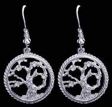 NICE New Genuine Sterling Silver .925 Celtic Family Tree of Life  Earrin... - $27.23